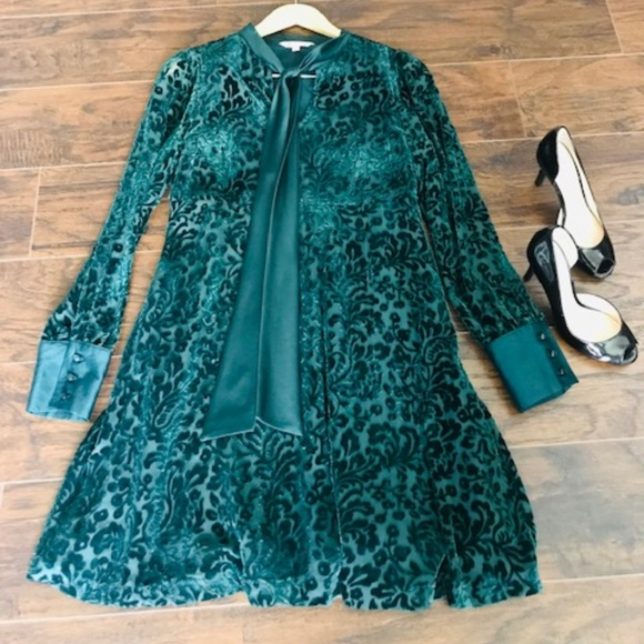 Nanette Lepore Emerald Green Long Sleeve Dress